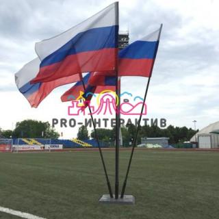 Флаги и флагштоки на день россии