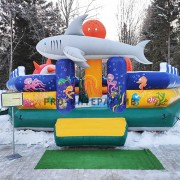 Батут Акула в аренду на детский праздник