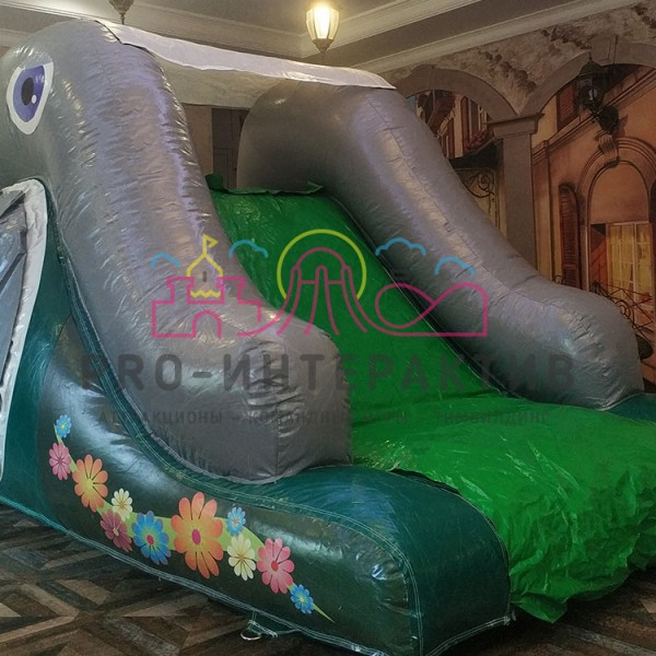 Аренда надувной горки слоник