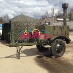 Полевая кухня и армейский шатёр