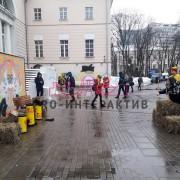 Метание валенок - тир на ярмарку в русском стиле