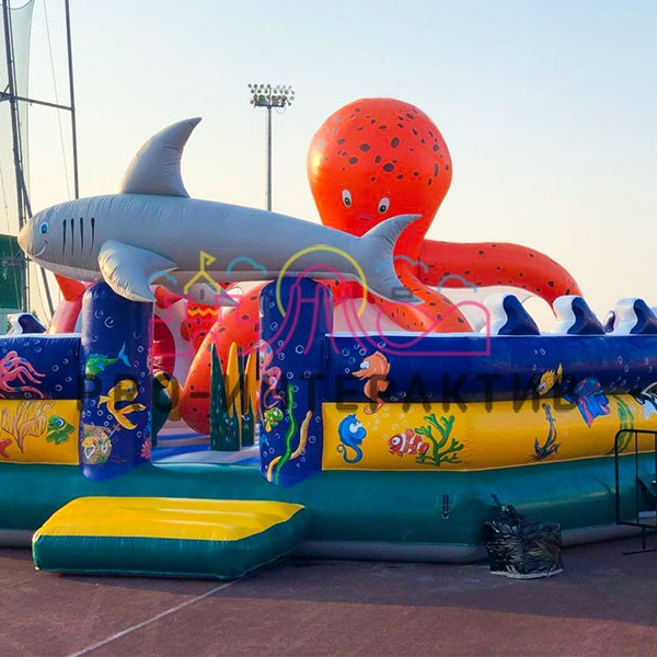 Надувной Батут акула в аренду на праздник для детей