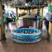 Надувной сухой бассейн с шариками детский в аренду на праздник
