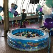 Надувной сухой бассейн с шариками детский в аренду на праздник 3