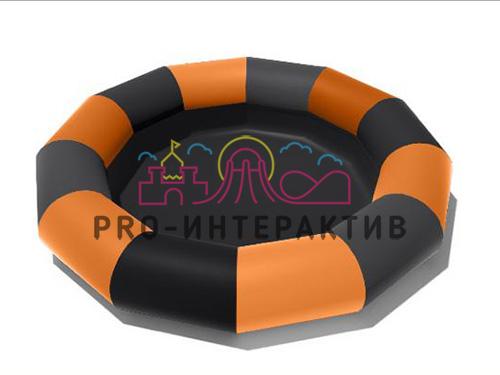 Надувной сухой бассейн чёрно оранжевый