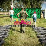 Полоса препятствий Шины в аренду на военное мероприятие