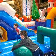 Детский надувной батут Русский лес в аренду на праздник