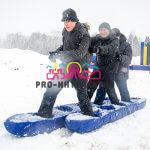 Аттракцион Лыжи командные в аренду на соревнования