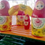 Аренда батута Матрешка на детский праздник