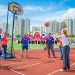 Стритбол баскетбол кольцо стойка в аренда на спортивное мероприятие