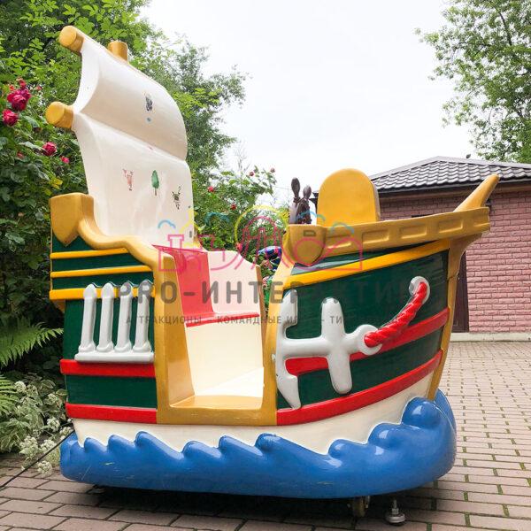 Детская качалка пиратский корабль