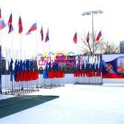 Флаги и флагштоки на мероприятие