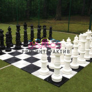 Гигантские шахматы на спортивный праздник