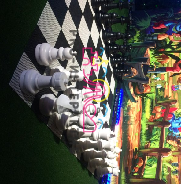 Гигантские шахматы на детский праздник