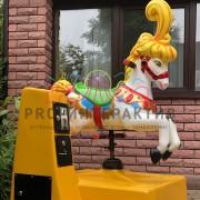 Механический конь качалка для детей