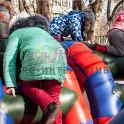 Полоса препятствий на детском празднике
