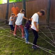Преодоление верёвочной полосы