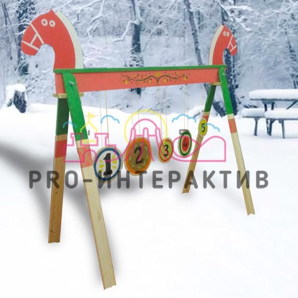 Тир деревянный на масленицу в стиле русских сказок