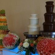 Заказать шоколадный фонтан на праздник 2 и 3 уровня