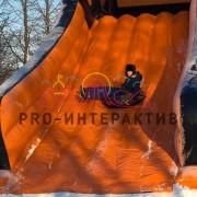 Аренда надувной горки ледянки на детский зимний праздник