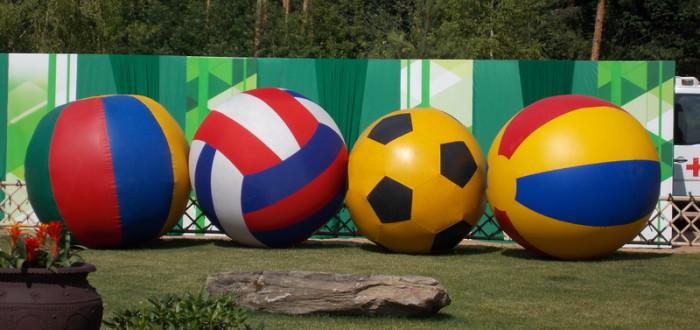 Аренда гигантских мячей