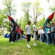 организация веселых стартов, командная эстафет на праздник