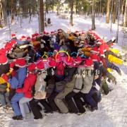 тимбилдинг зимой, классический веревочный курс, командообразование для сотрудников