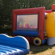Батут паровозик на детский праздник
