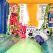 Детский надувной батут Футболист в аренду на чемпионат мира