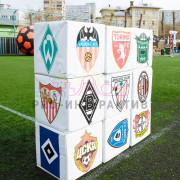 Футбольные клубы на кубиках