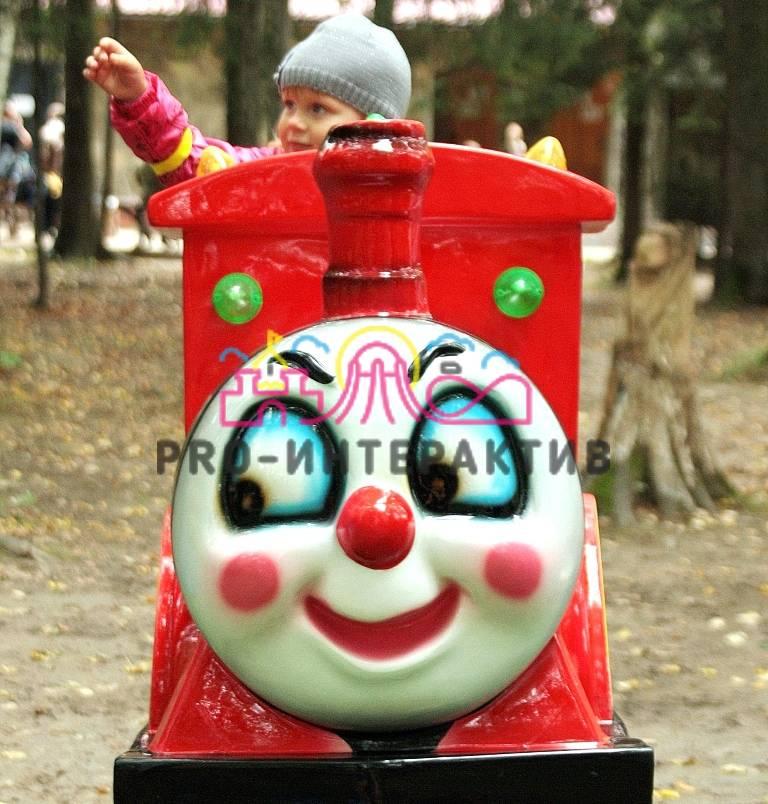 Детская качалка Паровозик на праздник для ребёнка