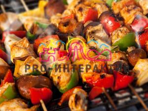 Приготовление овощей на углях на празднике