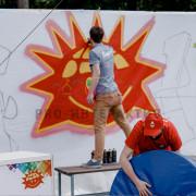 Летний праздник со стеной граффити