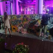 Стена граффити на вечеринки