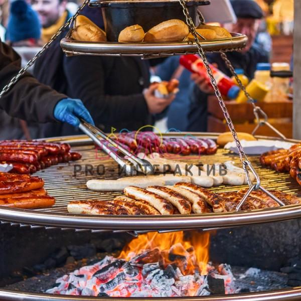 Заказать сосиски на углях на праздник
