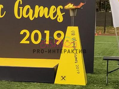 Брендирование чаши огня для организации олимпийских игр