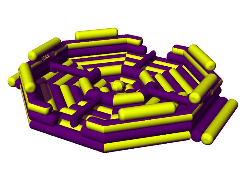 Фиолетово жёлтые бегемотики