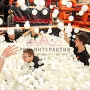 Наполнение белыми шариками