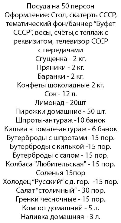 Буфет СССР