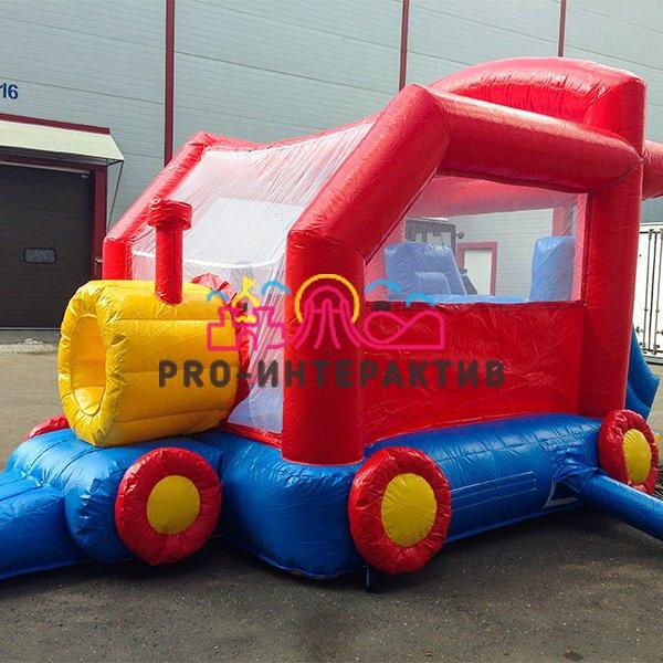 Детский батут «Локомотив» в аренду на праздник