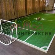 Мини футбольное поле с установкой