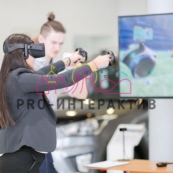 Аренда футбольного VR аттракциона с шлемом и контроллерами