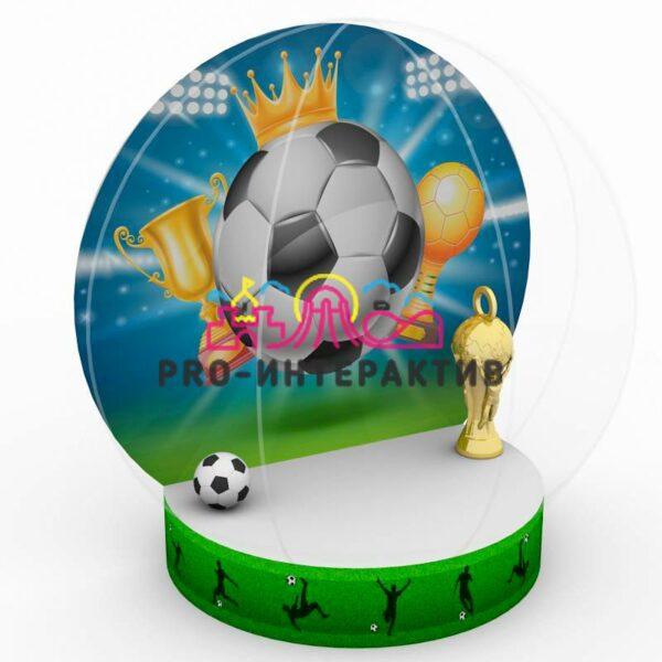 Фотозона Футбольная Чудо-Шар на праздник чемпионат мира по футболу