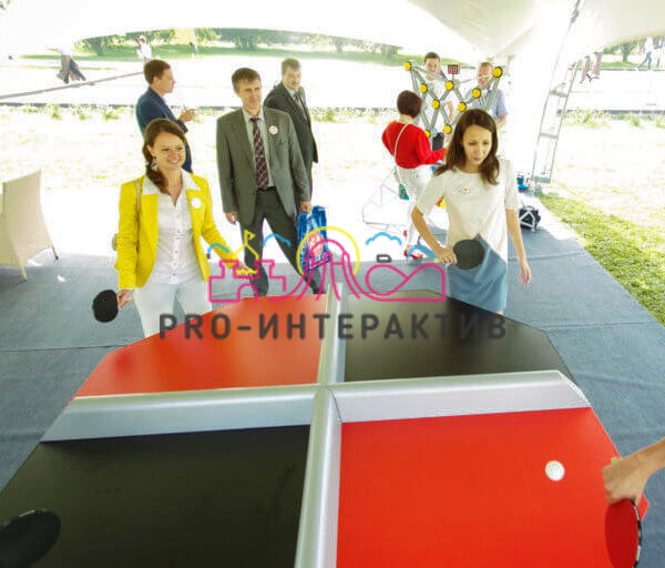 Квадропонг - Пинг понг на четверых в аренду
