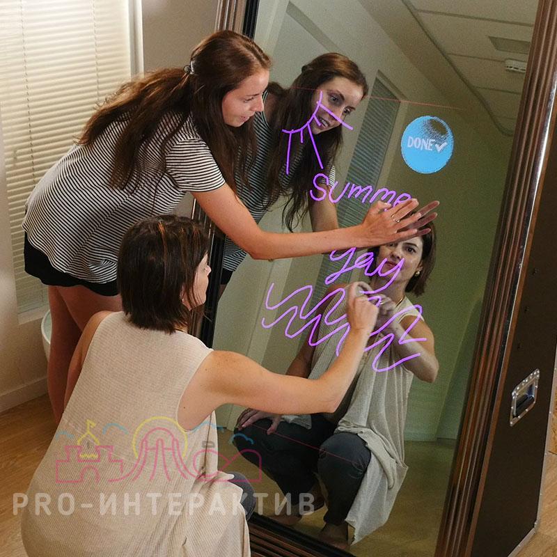 Аренда селфи-зеркала с лампами