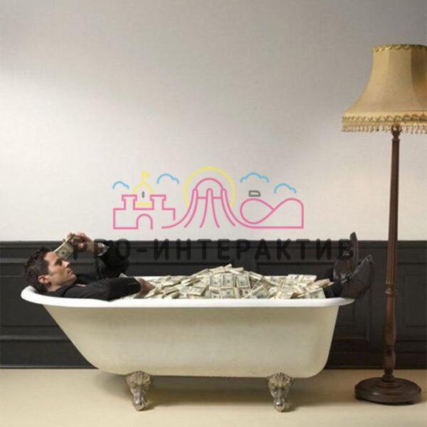 Аренда денежной ванны для фотозоны
