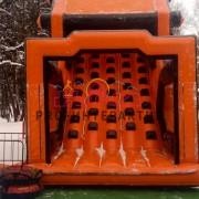 Надувная горка Мост 2.0 для зимнего тимбилдинга