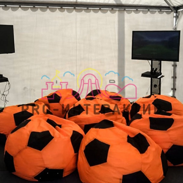 Пуфы футбольные мячи в аренду