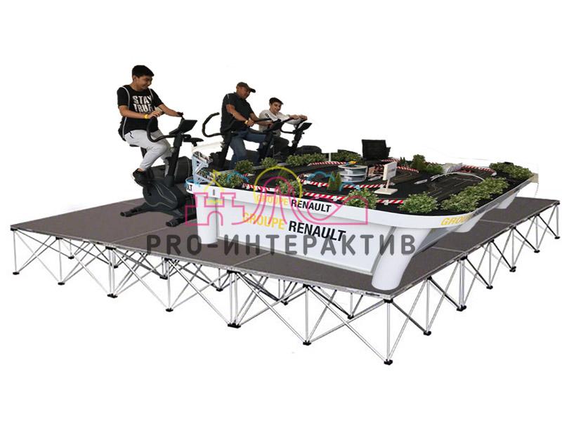 подиум под аттракцион автогонки на велотренажёрах