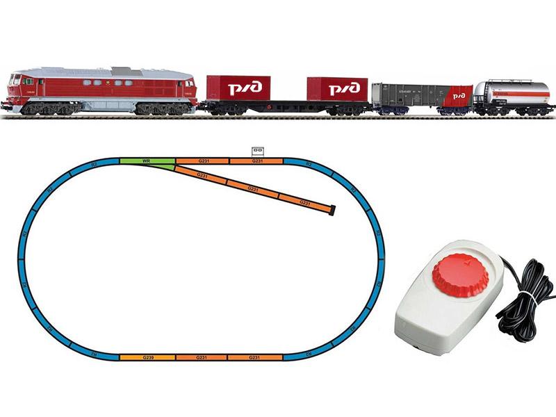 Обычный макет железной дороги
